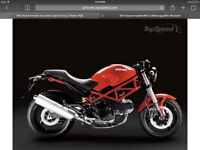 Red Ducati monster very clean
