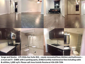 Yonge and Steeles Condo For Sale - only $380k move in now!