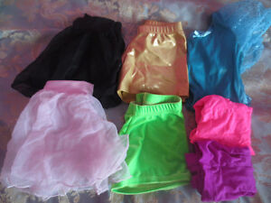 set of shorts and skirts for gymnastics and ballet