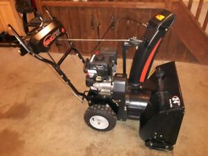 """24"""" DUAL STAGE SNO-TEK BLOWER FOR SALE -LIKE NEW CONDITION"""