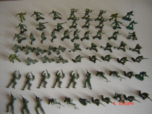 Vintage Plastic Soldiers, Cowboys & Indians From The 1960's