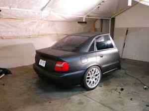 Half car trailer Audi A4 B5 with coilovers