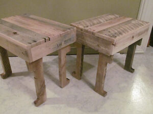 TWO (2) RUSTIC BENCHES OR TABLES