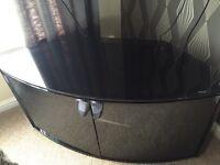 High gloss black tv cabinet