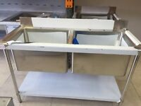 Stainless Steel Sink 2 Deep Bowl 1400mm