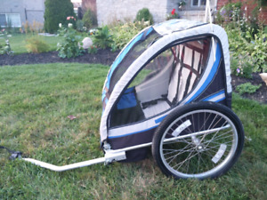 2-child bicycle trailer