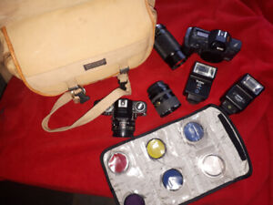 Ricoh/Pentax Manual SLR camera set - $225 OBO