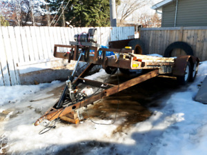 16' hydraulic tilt deck / car hauler