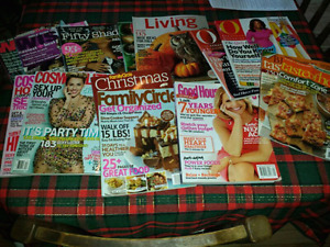 Lot of various womens magazines
