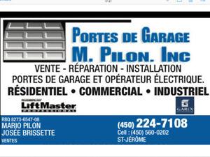 PORTES DE GARAGE R-16 (Garantie à Vie )