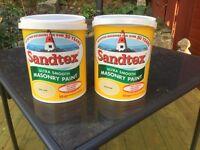 Sandtex masonry paint £15 EACH