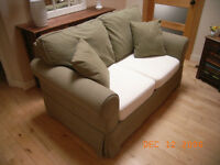 Loveseat with Slip Cover
