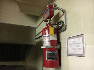 Kitchen Fire Suppression,CO2,Hood,Exhaust Fan,Fire extinguisher