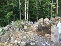 Stone dyke for removal