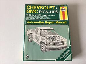 Chev & GMC Truck 454 SS Tahoe Yukon Blazer 1988-1995 Shop Manual