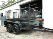 tandem trailer new 8x5 heavy duty hi side trailer   cage 600mm hi Carlton Kogarah Area Preview