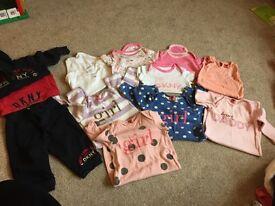 Baby girls designer bundle, no added sugar, dkny, tommy 6months