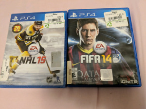 NHL 15 and Fifa 14 PS4