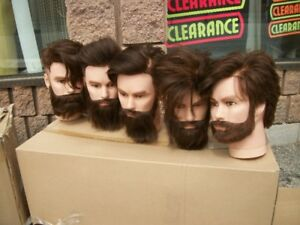 Mannequin Heads with and without hair Female & Male from $15