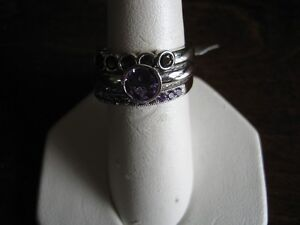 blue sapphire s/s rings