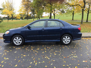 COROLLA (S),2003,AUTOMATIC,CLIMATISE,BAS MILAGE 110K KM IMPECCAB
