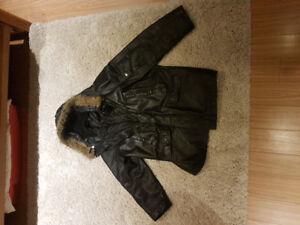 Mens XL Danier Leather Hooded Coat