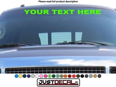 Car Windshield Decal sticker graphic visor window custom banner stripe 36 x 3.5