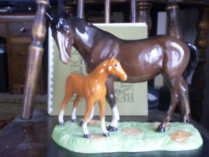 """Beswick Horse Figurine -"""" Mare and Foal """" - #953 -"""