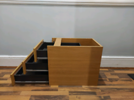 Three drawer pine cabinets