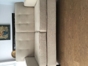 Causeuse/love seat 2 places beige