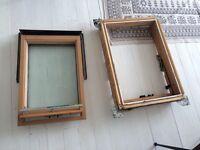 Velux window including frame
