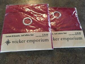 2 wicker emporium drapes