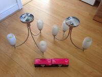X2 room lights with bulbs