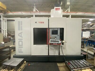 Used Fidia K199 5-axis Cnc Vertical Mill 2003 65.30.28 24000 Rpm Hsk63e 54 Hp