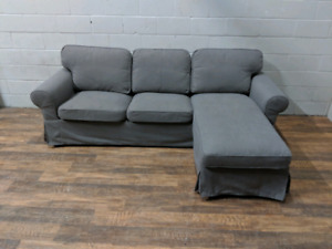 Ikea Ektorp grey sectional sofa. FREE DELIVERY​