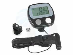 LCD Bike Bicycle Cycle Fitness Computer Odometer Speedometer RPM