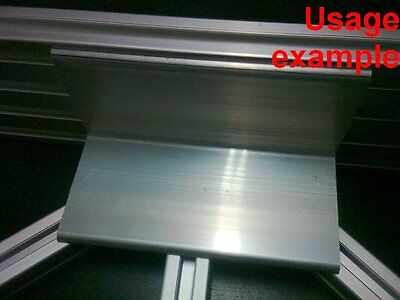 Aluminum T-slot Profile Blank Elbow Join Angle Support 60x60x4mm L120mm 4-set