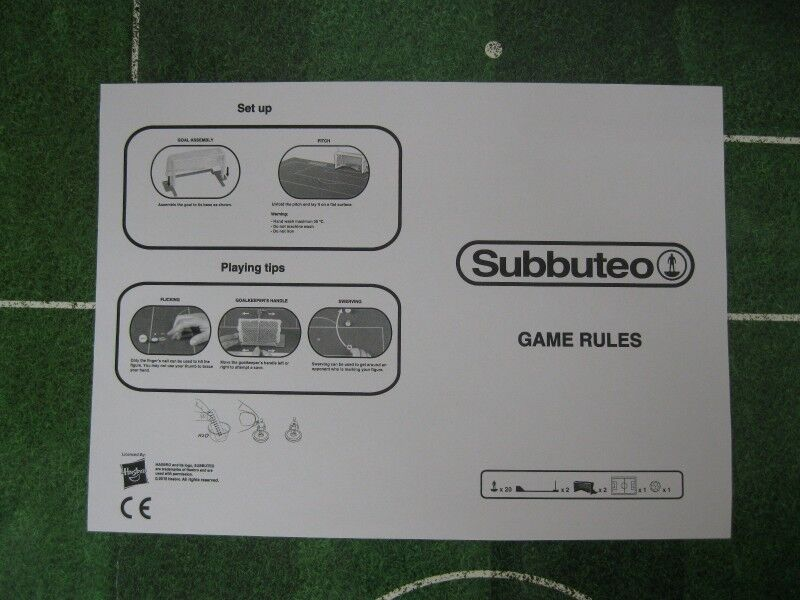 Subbuteo Game Rules