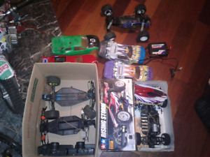 Bigg lot of remote control cars an extra pieces