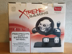 Gaming wheel and pedals