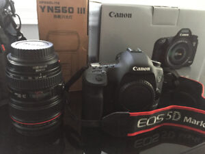 Canon 5D Mark 111 for Sale with lens / flash and accessories