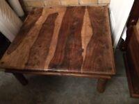 Sheesham large square coffee table