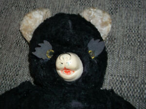 VERY COLLECTIBLE: Antique 1940-50s beautiful TEDDY BEAR