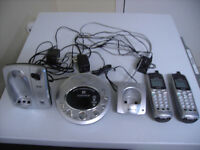 Answering Machine and 2 cordless phones