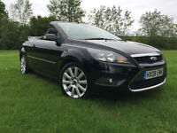 2008 FORD FOCUS CONVERTIBLE 2.0 DIESEL BLACK LOW MILAGE HPI CLEAR