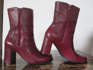 Harley Davidson Red Leather Flame Boots 8.5