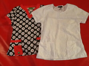 2 Ladies Scrubs Tops - $10 for both
