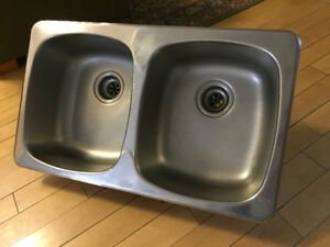 Stainless Steel Drop-in Double Sink Good Condition!