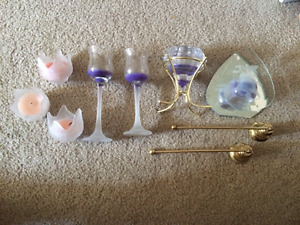 Partylite Candle Holders and Snuffer for sale