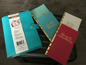 6-ring planner & 4 booklets for sale